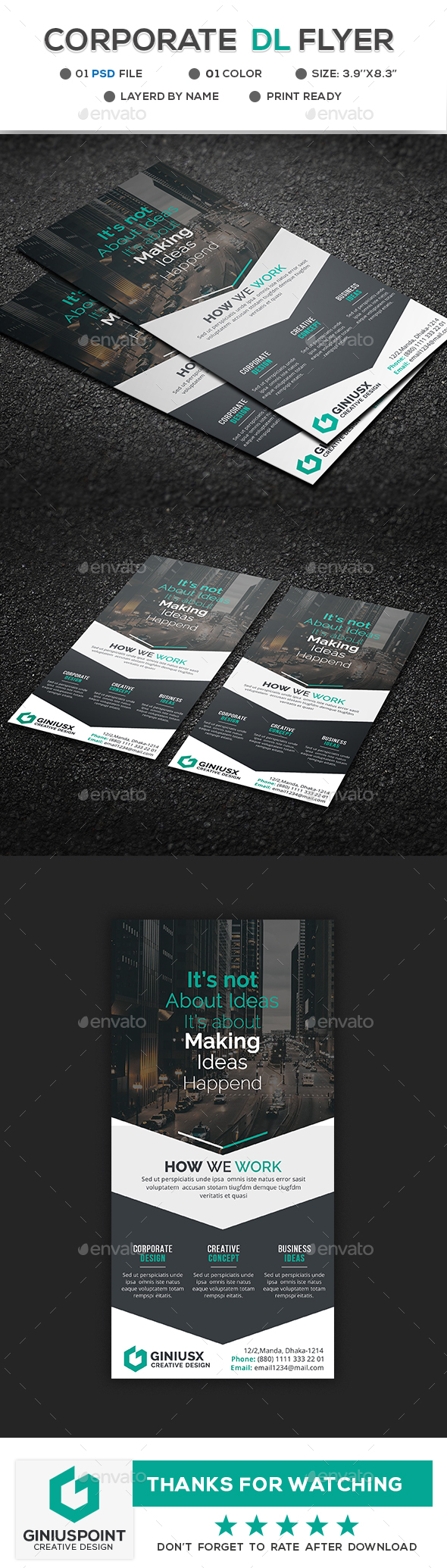 GraphicRiver Corporate DL Flyer 20947674