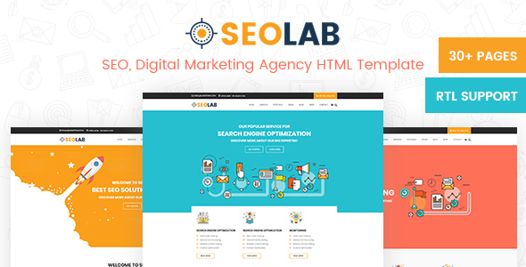 SeoLab- SEO & Digital Marketing Agency HTML Template - Marketing Corporate