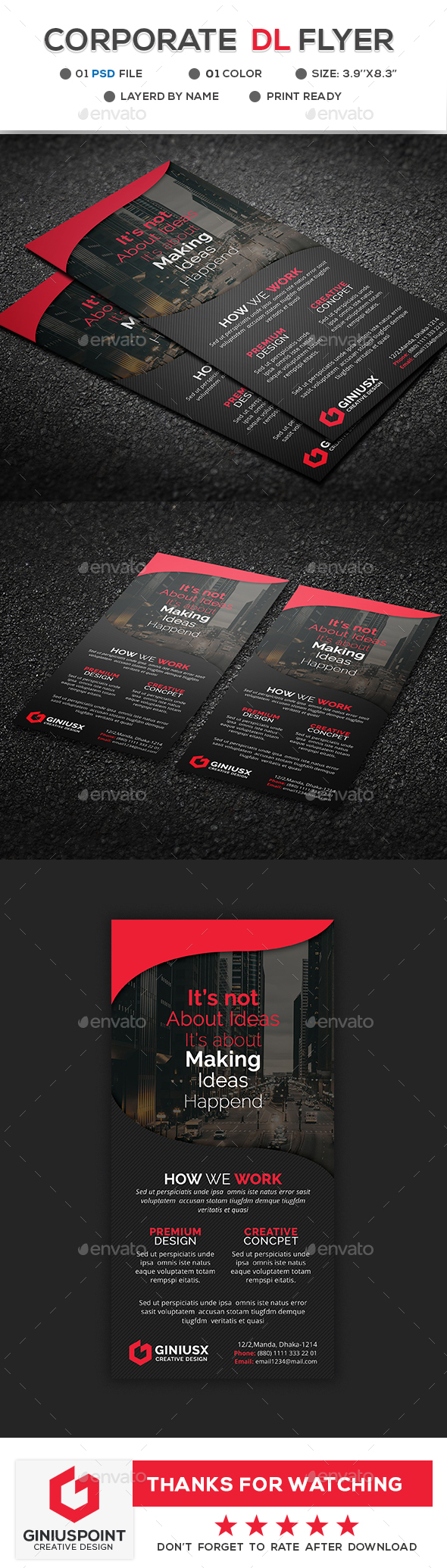 Corporate DL Flyer - Flyers Print Templates