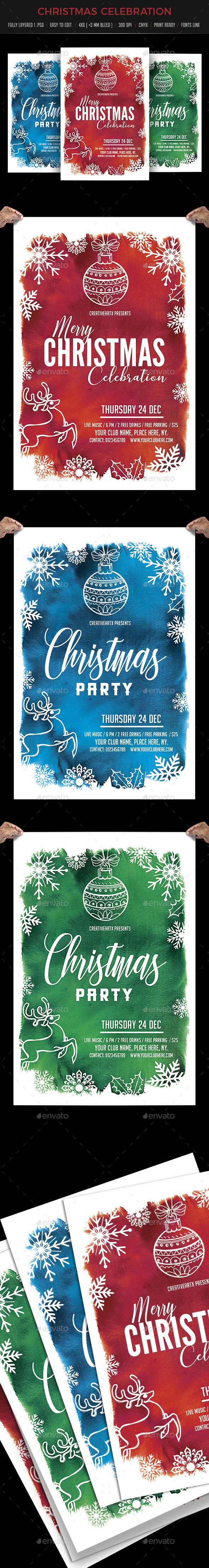 GraphicRiver Christmas Party Flyer 20947873