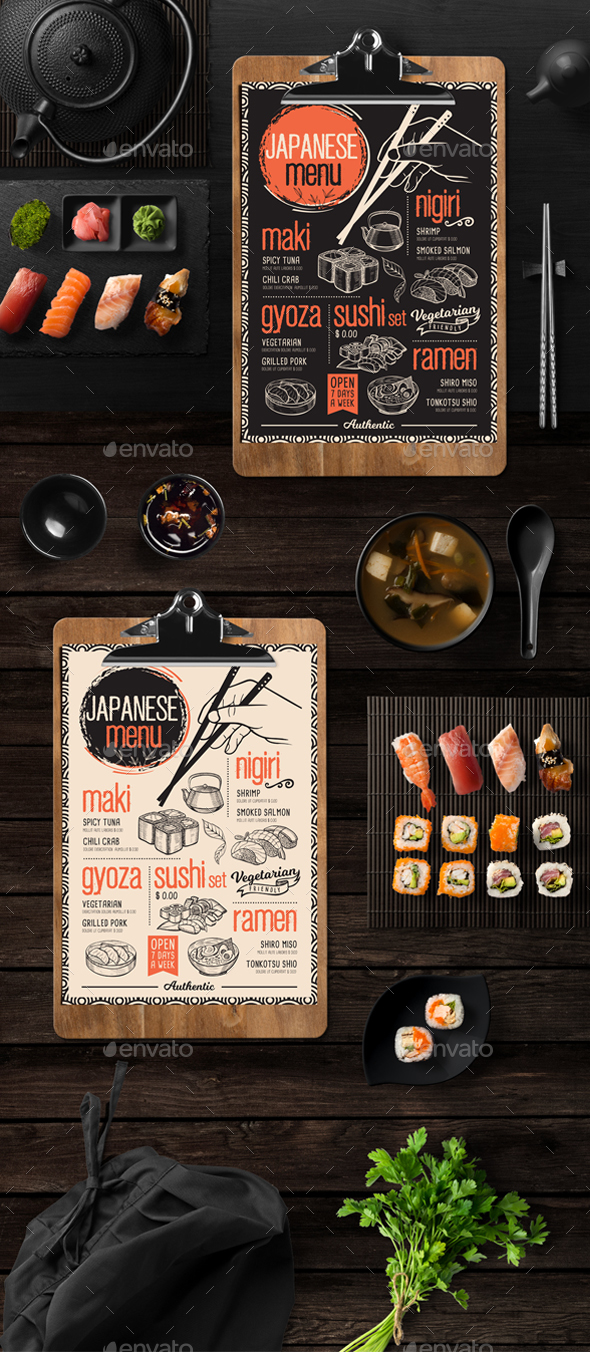 GraphicRiver Asian Food Menu 20947955