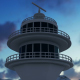 Radar Tower at Night - VideoHive Item for Sale