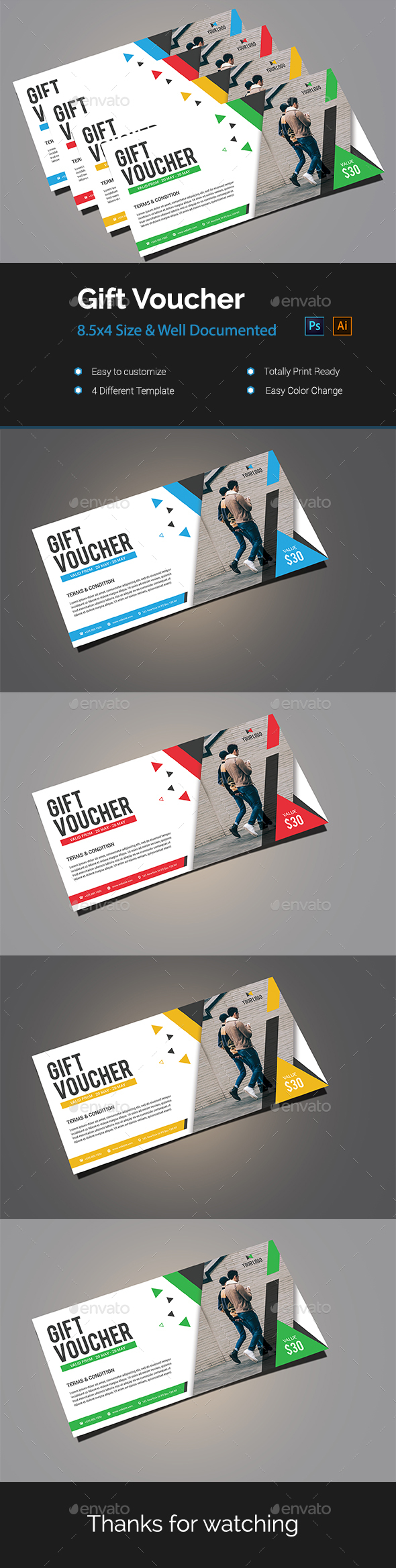 GraphicRiver Gift Voucher 20948132