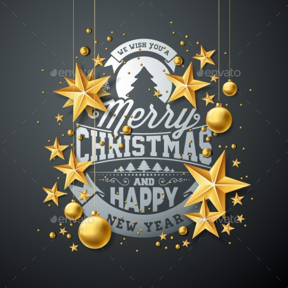 Vector Christmas and New Year Illustration - Christmas Seasons/Holidays