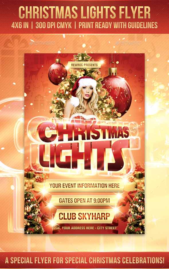 GraphicRiver Christmas Lights Flyer 20948145