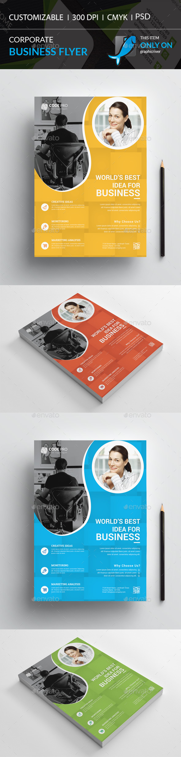 GraphicRiver Corporate Flyer 20948167