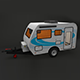 Caravan House Car - FULL Edition with Textures 1080 - 3DOcean Item for Sale