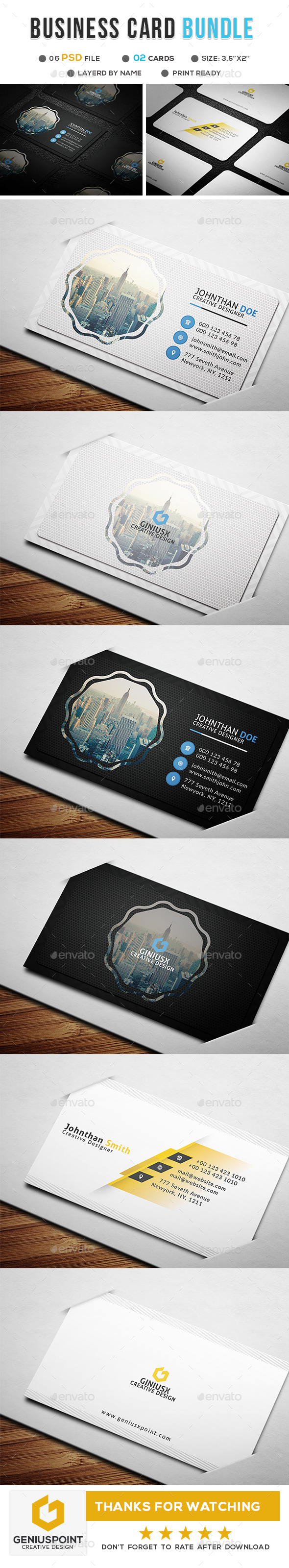 GraphicRiver Business Card Bundle 20948239