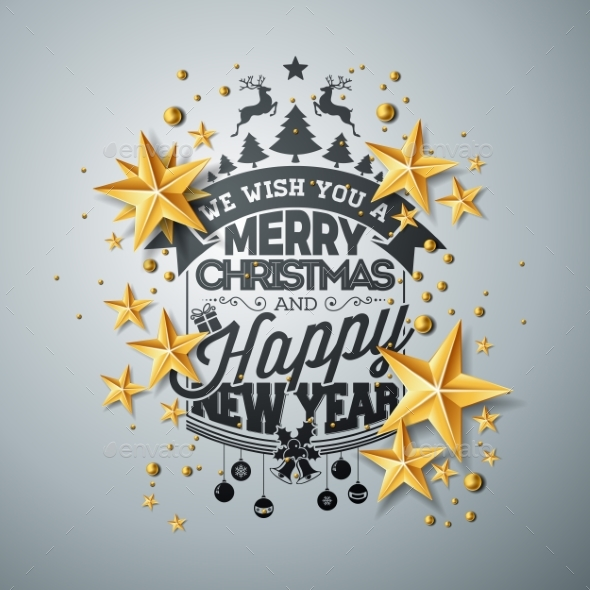 GraphicRiver Vector Christmas and New Year Illustration 20948268