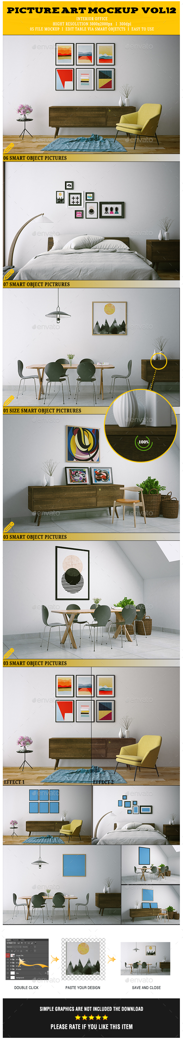 GraphicRiver Picture Art Mockup Vol[12] 20948329
