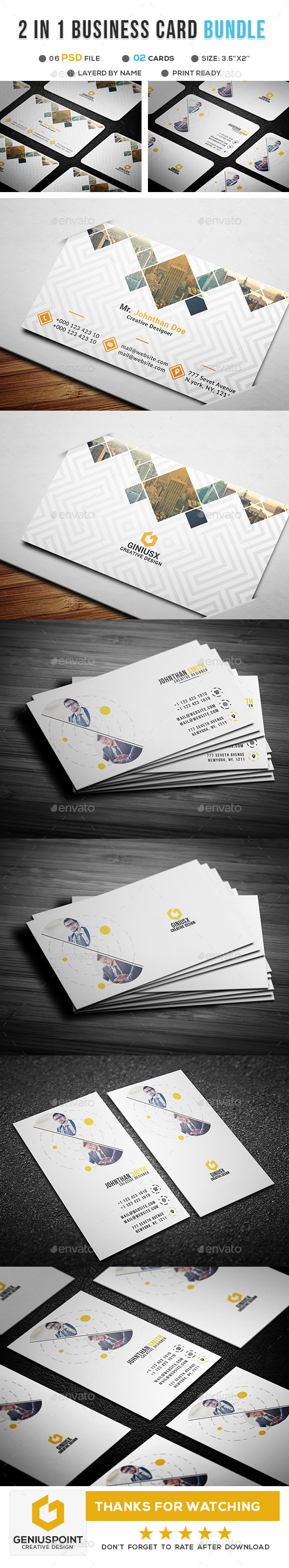 GraphicRiver Corporate Business Card Bundle 20948375