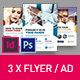 Corporate Business Universal Flyer/ad 3x InDesign and Photoshop Template Triangle - GraphicRiver Item for Sale