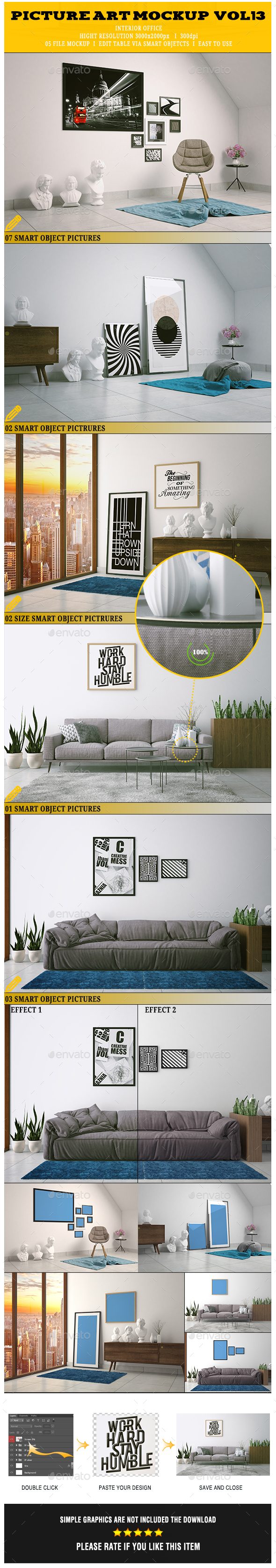 GraphicRiver Picture Art Mockup Vol[13] 20948456
