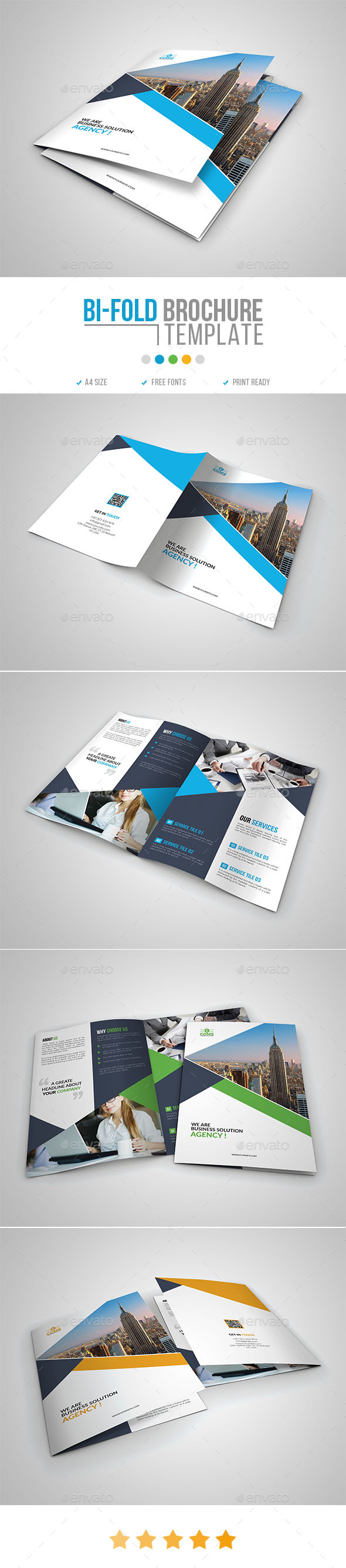 GraphicRiver Corporate Bi Fold Brochure Template 09 20948466