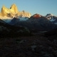 View of Mount Fitz Roy From the Air. Autumn Dawn. Patagonia, Argentina - VideoHive Item for Sale