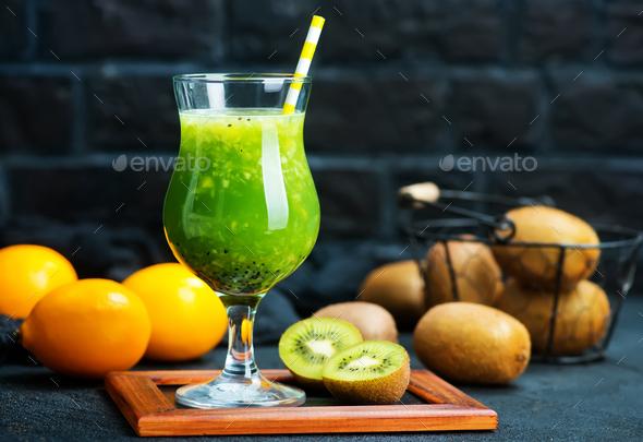 kiwi smoothie - Stock Photo - Images