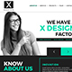 X Design Single Page PSD Web Template
