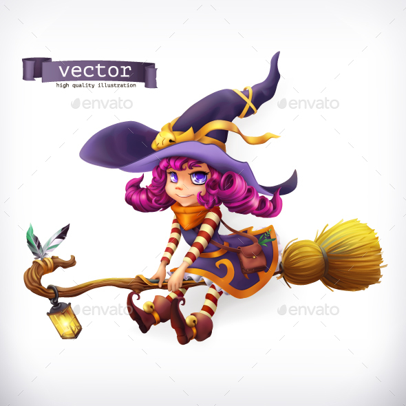 GraphicRiver Witch 3D Vector 20948819