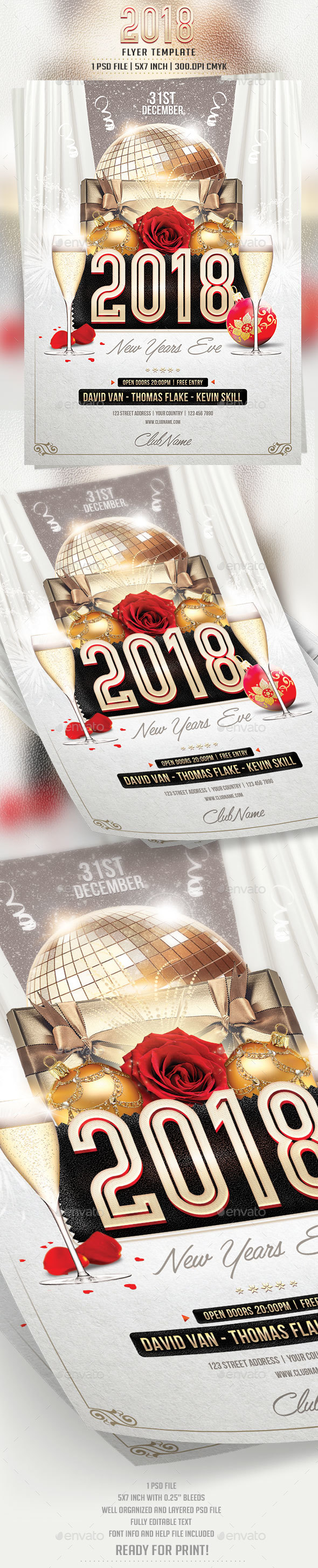 2018 Flyer Template - Flyers Print Templates