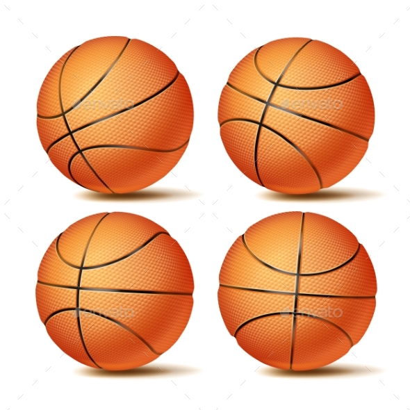 GraphicRiver Realistic Basketball Set Vector 20949038