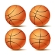 Realistic Basketball Set Vector