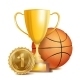 Basketball Achievement Award Vector