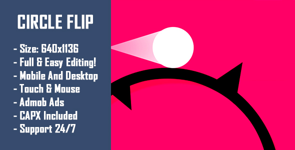 Source code              Circle Flip – HTML5 Game + Mobile Version! (Construct-2 CAPX)            nulled