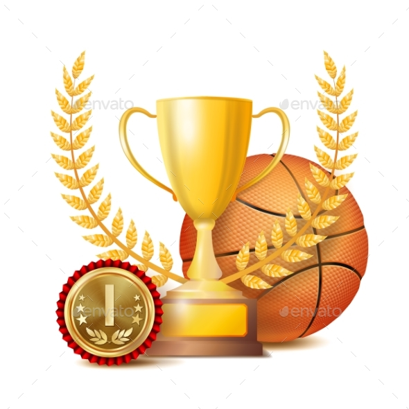 Basketball Award Vector - Sports/Activity Conceptual