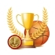 Basketball Award Vector