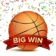 Basketball Big Win Vector