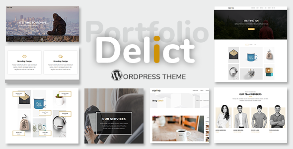ThemeForest Delict Minimal Portfolio WordPress Theme 20378435