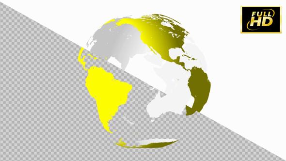 VideoHive Earth Globe 3D Yellow 20949237