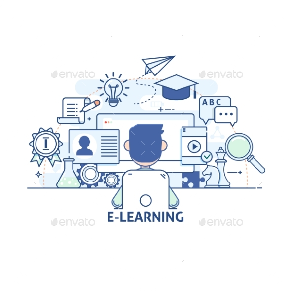 GraphicRiver Concept of E-Learning 20949289