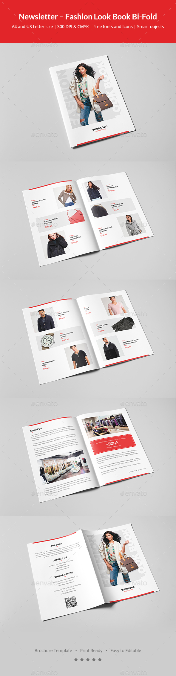 GraphicRiver Newsletter Fashion Look Book Bi-Fold 20949805