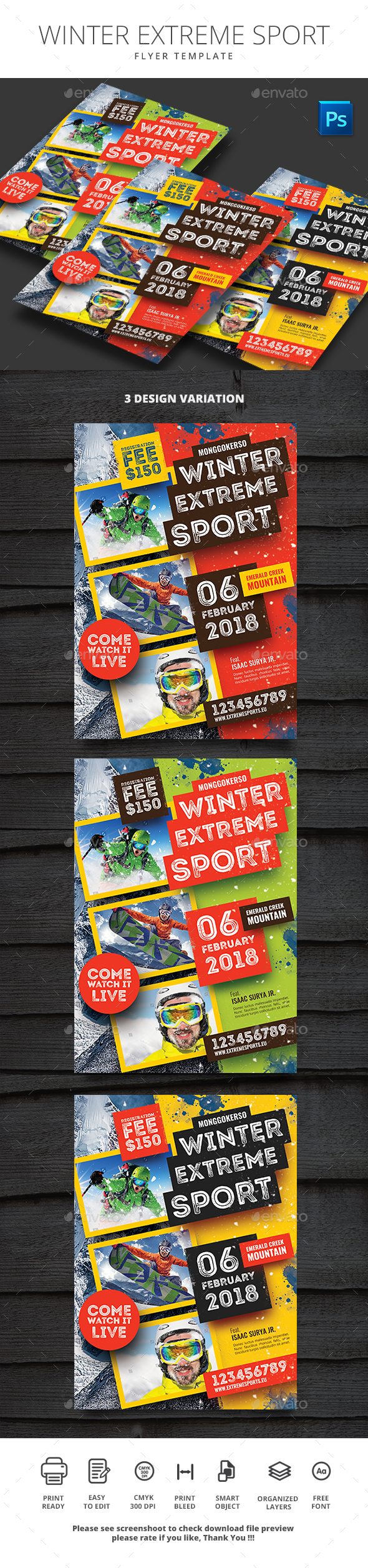 GraphicRiver Winter Extreme Sport 20950139