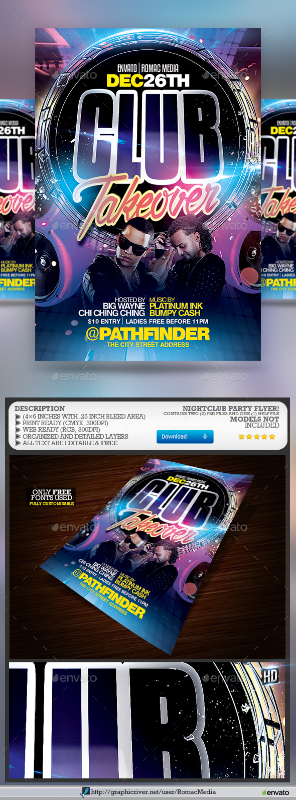 Club DJ Party Flyer - Clubs & Parties Events