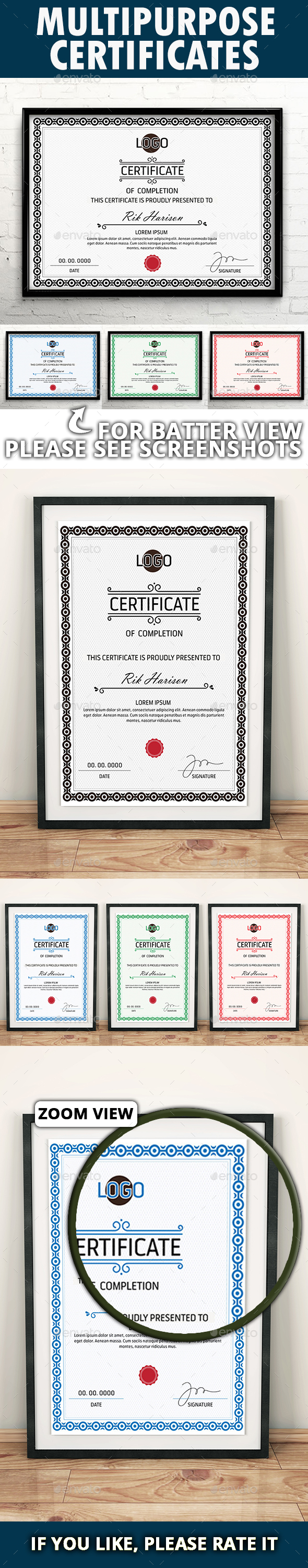 GraphicRiver Multipurpose Certificates 20929696