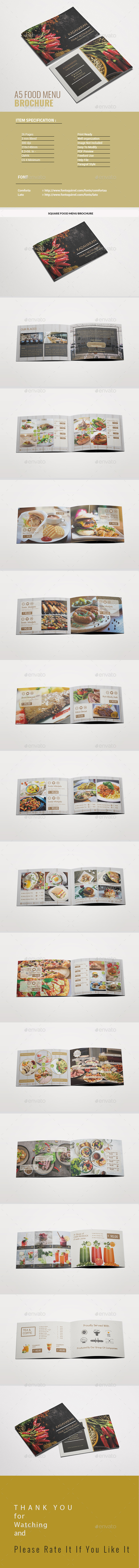 A5 Food Menu Brochure - Food Menus Print Templates