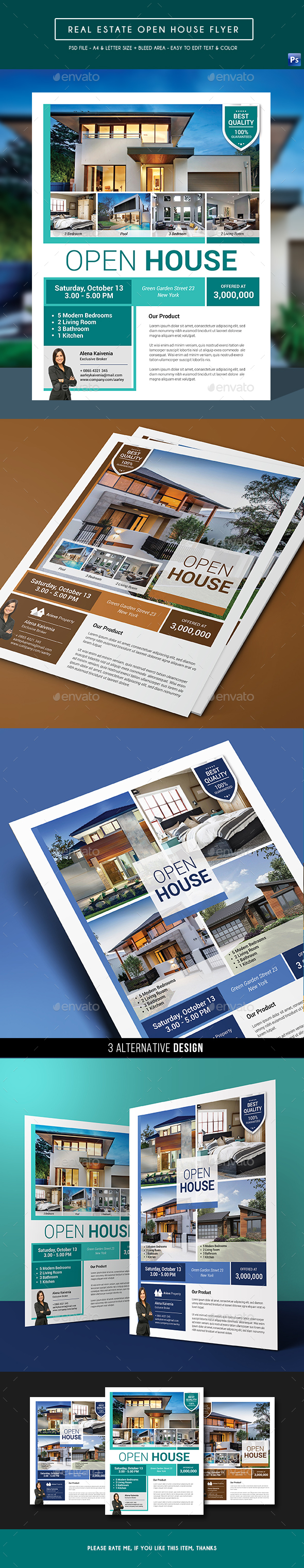 GraphicRiver Real Estate Open House Flyer 20950458