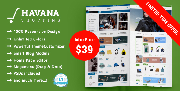 Havana – Shopping MultiPurpose Responsive Prestashop 1.7 Theme            nulled
