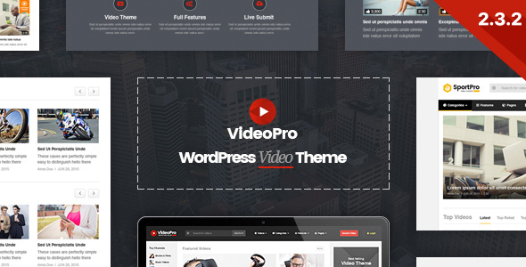 VideoPro - Video WordPress Theme - Blog / Magazine WordPress