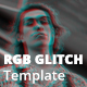 RGB Glitch Photoshop Template