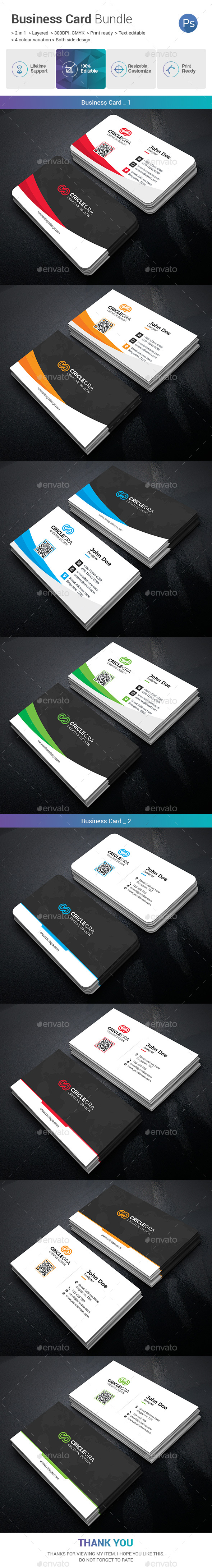 GraphicRiver Business Card Bundle 2 in 1 20950579