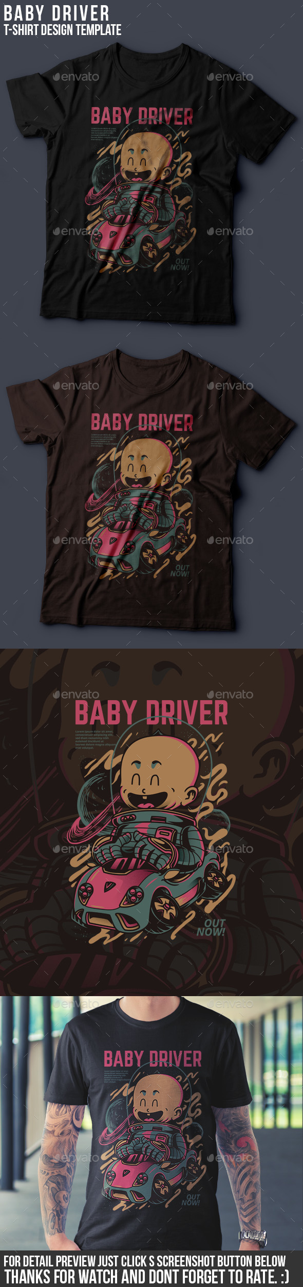GraphicRiver Baby Driver T-Shirt Design 20941470