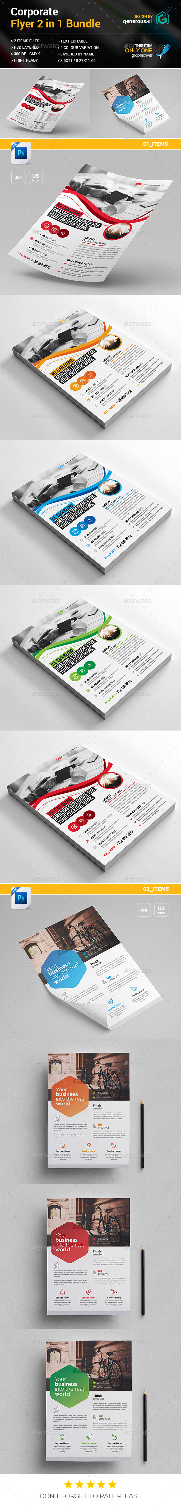 GraphicRiver Flyer Bundle 2 in 1 20950674