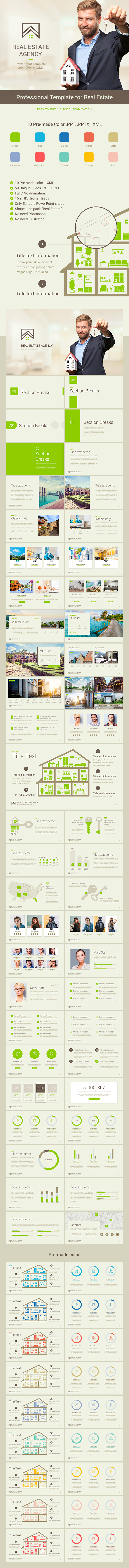GraphicRiver Real Estate PowerPoint Presentation Template 20950732