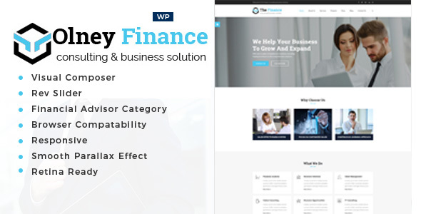Olney Finance -Business Consulting WordPress Theme - Business Corporate