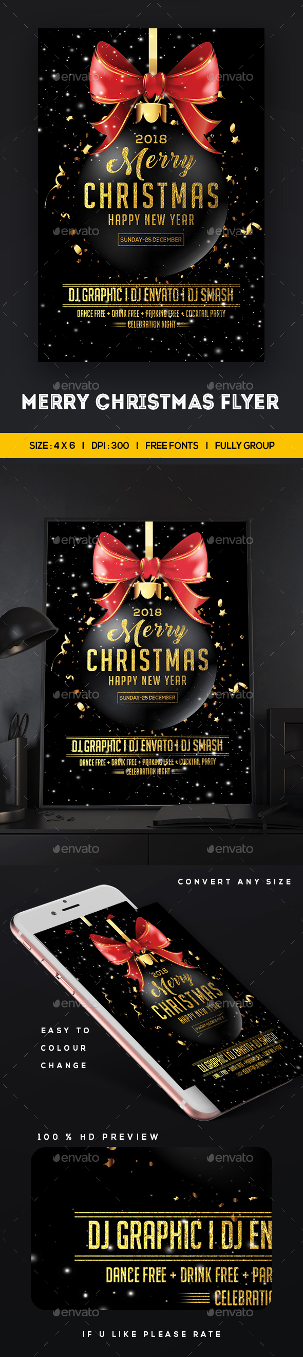 GraphicRiver Merry Christmas Flyer 20950842