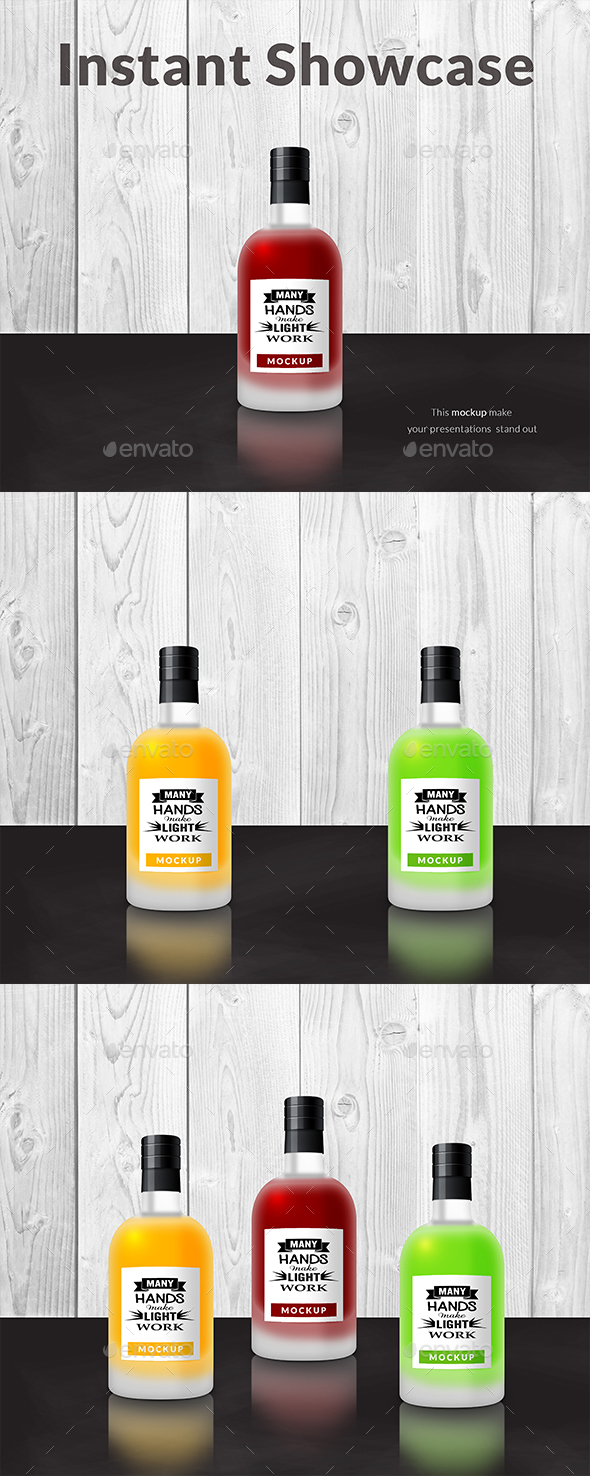 GraphicRiver Matte Glass Bottles Mockup 20950864