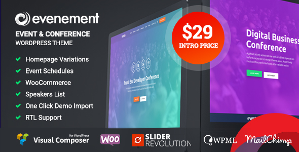 ThemeForest Evenement Event & Conference WordPress Theme 20680951